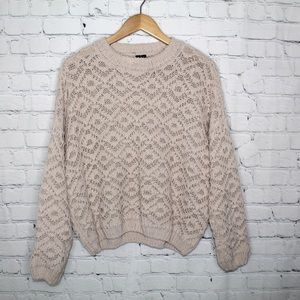 Moon & Madison Open Knit Oversized Sweater